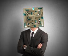confused businessman - stock illustration