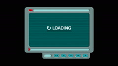 Media player interface, downloading a video. With luma matte, separate elements - stock footage
