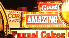 Carnival Sign - Giant Amazing - stock footage