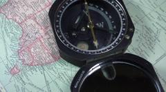 Surveyors compass , Australia Stock Footage