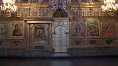 Russian church iconostasis Stock Footage