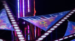 Carnival Ride Detail - Tower Stock Footage