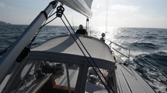 California Sailing/41 Foot Sloop - stock footage