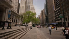 NYC 4k Public library pan 25P Stock Footage