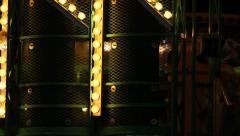 Carnival Lights - Yellow Bulbs, Green Flashing - stock footage