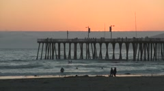 Pismo Beach Sunset - stock footage