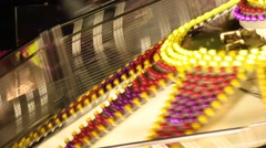 Carnival Spinning Ride Detail Stock Footage
