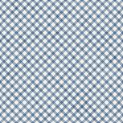 Medium blue gingham pattern repeat background Stock Illustration
