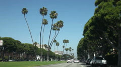 Driving in Beverly hill area, Los Angeles Stock Footage