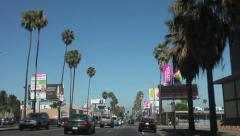 Driving in central Los Angeles Stock Footage