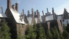 Hogsmeade village from the outside, pan. Stock Footage