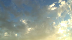 Altocumulus clouds painted across the sky Stock Footage