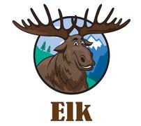 Cartoon moose or elk Piirros