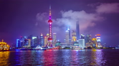 Shanghai, China City Skyline - stock footage