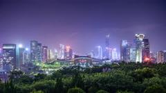 Shenzhen, China City Skyline Stock Footage