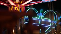 Abstract Carnival Lights Crown - stock footage