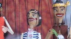 Playing my marionette Stock Footage