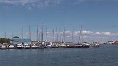 yachts port - stock footage