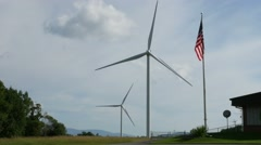 4K New York State Wind Turbines Stock Footage