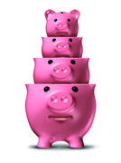 savings loss - stock illustration