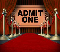 Entertainment on the red carpet Stock Illustration