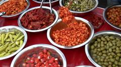 Greek cuisine Stock Footage