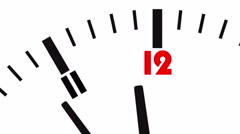 Animated clock. Last seconds to 12 o'clock Stock Footage