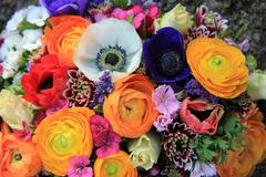 spring bouquet in bright colors - stock photo