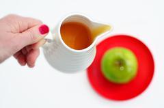 Apples and honey - rosh hashanah jewish holiday Stock Photos
