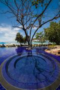 Infinity pool in thailand Stock Photos