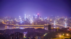 Chongqing, China City Skyline Stock Footage