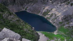 Modro Jezero Blue Lake Imotski Croatia Stock Footage