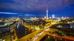 Berlin Germany Skyline Stock Footage