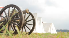 Old War Cannon Stock Footage