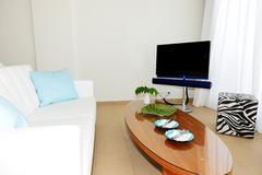 Interior of the luxury villa, crete, greece Stock Photos