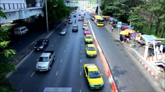 Traffic on the road in Bangkok Thailand Stock Footage