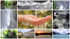 Water is the most precious asset on the planet, montage Stock Footage