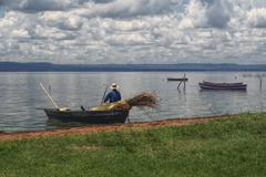 fisherman, paraguay - stock photo