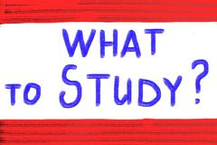 Stock Illustration of what to study concept