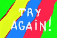 Stock Illustration of try again concept