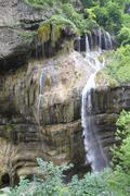 Beautiful waterfall falling off a cliff, chegem gorge,  caucasus , russia Stock Photos