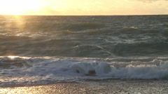 The sea at sunset 01 Stock Footage