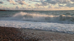 The sea at sunset 02 Stock Footage