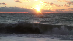 The sea at sunset 04 Stock Footage