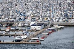 marina in oslo - stock photo