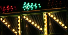 Carnival Ride Close Up Zig-Zag Stock Footage