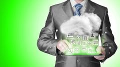 Stock Illustration of Cloud computing touchscreen interface