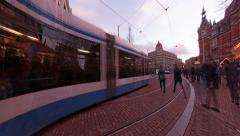 4K UHD Leidsplein square and street in Amsterdam, Holland Stock Footage