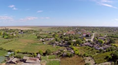 Small village in Romania - stock footage