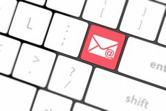 Computer keyboard with e-mail key Stock Illustration